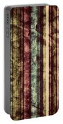 Colorful Vertical Stripes Background In Vintage Retro Style  Portable Battery Charger