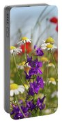 Colorful Wild Flowers Nature Scene Portable Battery Charger