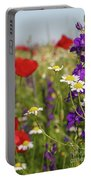Colorful Wild Flowers Nature Spring Scene Portable Battery Charger