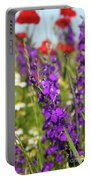 Colorful Wild Flowers Spring Scene Portable Battery Charger