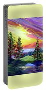 Colors In The Sky Portable Battery Charger