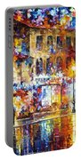 Colors Of Emotions - Palette Knife Oil Painting On Canvas By Leonid Afremov Portable Battery Charger