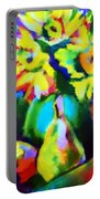 Colors, Pears And Flowers Portable Battery Charger