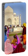Colorful Saris At Taj Mahal Portable Battery Charger