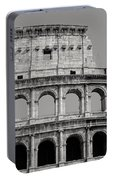 Colosseum Or Coliseum Black And White Portable Battery Charger