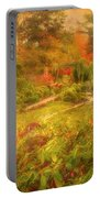 Colour Explosion In The Japanese Gardens Portable Battery Charger