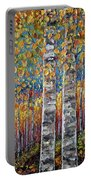 Colourful Autumn Aspen Trees By Lena Owens @olena Art Portable Battery Charger