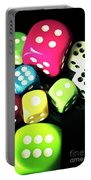 Colourful Casino Dice  Portable Battery Charger