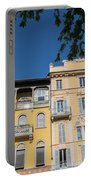Colourful Facade Of Traditional Buildings In Como, Italy Portable Battery Charger