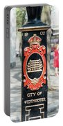 Colourful Lamp Post With The City Of Westminster Coat Of Arms London Portable Battery Charger