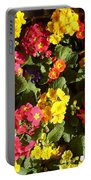 Colourful Spring Flowers Portable Battery Charger