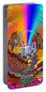 Colourful Swirl Of Goodluck Portable Battery Charger