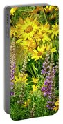 Columbia Gorge Wildflowers Portable Battery Charger