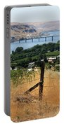 Columbia River - Biggs And Maryhill State Park Portable Battery Charger by Carol Groenen