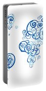Columbia University Colors Swirl Map Of The World Atlas Portable Battery Charger
