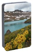 Columbine Lake And Alpine Sunflower Landscape Portable Battery Charger