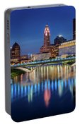 Columbus Ohio Skyline At Night Portable Battery Charger