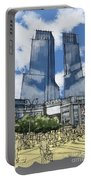 Columbus Square New York City Handmade Sketch Portable Battery Charger