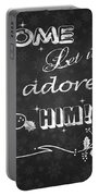 Come Let Us Adore Him Chalkboard Artwork Portable Battery Charger