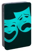 Comedy N Tragedy Aquamarine Portable Battery Charger