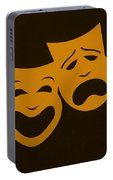 Comedy N Tragedy Black Orange Portable Battery Charger