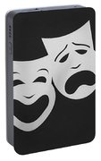 Comedy N Tragedy Black White Portable Battery Charger