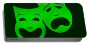 Comedy N Tragedy Green Portable Battery Charger