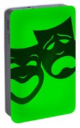 Comedy N Tragedy Neg Green Portable Battery Charger