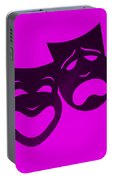Comedy N Tragedy Purple Portable Battery Charger