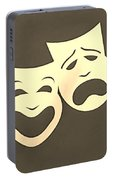 Comedy N Tragedy Sepia Portable Battery Charger