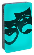 Comedy N Tragedy Turquoise Portable Battery Charger
