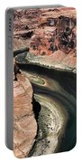 Coming Around Horseshoe Bend Page Arizona Colorado River  Portable Battery Charger