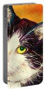 Commission Your Pets Portrait By Artist Carole Spandau Bfa Ecole Des Beaux Arts  Portable Battery Charger
