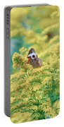 Common Buckeye Butterfly Hides In The Goldenrod Portable Battery Charger