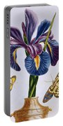 Common Iris With Butterflies Portable Battery Charger