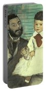 Comte Le Pic And His Sons Portable Battery Charger by Edgar Degas