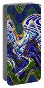 Condos On The Beach Abstract Portable Battery Charger