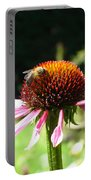 Cone Flower And Honey Bee Portable Battery Charger