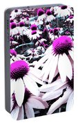 Cone Flower Delight Portable Battery Charger by Kevyn Bashore