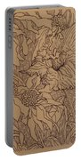 Cone Flowers And Daylily Portable Battery Charger