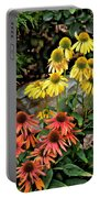 Cone Flowers Portable Battery Charger
