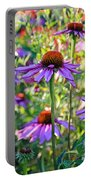 Coneflower Pedals Portable Battery Charger
