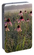 Coneflowers At Dawn Portable Battery Charger
