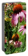 Coneflowers In Garden Portable Battery Charger