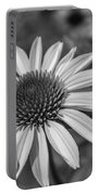 Conehead Daisy In Black And White Portable Battery Charger