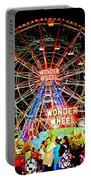 Coney Island Magic In Neon Portable Battery Charger