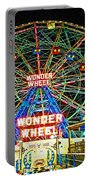 Coney Island's Wonderous Wonder Wheel In Neon Portable Battery Charger