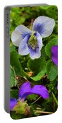 Confederate And Purple-blue Violets Portable Battery Charger