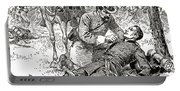 Confederate General John Brown Gordon Assists Wounded Union General Francis Channing Barlow Portable Battery Charger