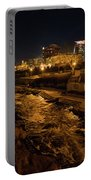 Confluence Park Rapids At Night Portable Battery Charger